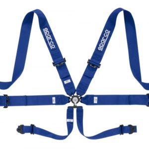 SPARCO Racing Gurt 6-Punkt (FIA 8853-2016) blau, 3″ Gurte, Stahl Versteller
