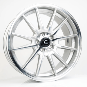 R1 – 19×8.5 +43mm 5×112 – Silver Machined Face
