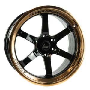 XT-006R – 20×9.5 +10mm 6×135 – Black with Bronze Machined Lip and Spokes
