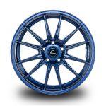 WestSchweizCustoms_Cosmis_R1 - 18x8.5 +35mm 5x114.3 - Matte Navy Blue Milled Lip