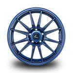 WestSchweizCustoms_Cosmis_R1 - 18x9.5 +35mm 5x114.3 - Matte Navy Blue Milled Lip
