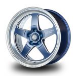 WestSchweizCustoms_Cosmis_XT-005R - 18x9.0 +25mm 5x114.3 - Matte Navy Blue Diamond Lip Milled Spokes2