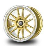 WestSchweizCustoms_Cosmis_XT-206R - 18x10.5 +33mm 5x114.3 - Gold Diamond Lip Milled Spokes2