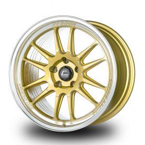 XT-206R – 18×10.5 +33mm 5×114.3 – Gold Diamond Lip Milled Spokes