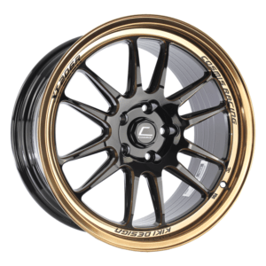XT-206R – 18×9.5 +38mm 5×114.3 – Black with Bronze Machined Lip and Spokes