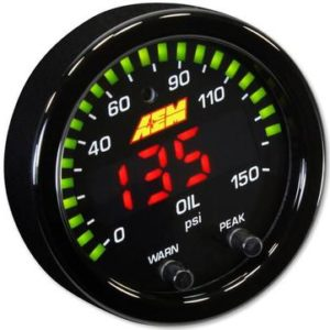 AEM X-SERIES 0-150 OIL PRESSURE GAUGE KIT – UNIVERSAL
