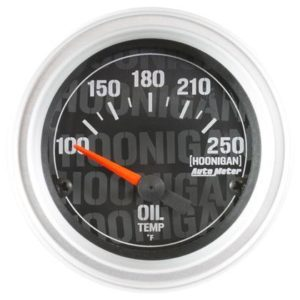 AUTOMETER HOONIGAN 52MM 100-250 DEG F FULL ELECTRONIC OIL TEMP GAUGE – UNIVERSAL