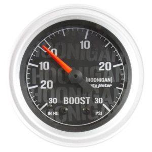 AUTOMETER HOONIGAN 52MM 30 PSI MECHANICAL VACUUM/BOOST GAUGE – UNIVERSAL