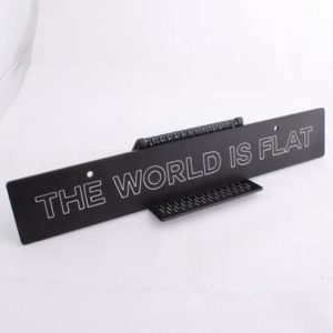 "BILLETWORKZ ""THE WORLD IS FLAT"" PLATE DELETE – UNIVERSAL"