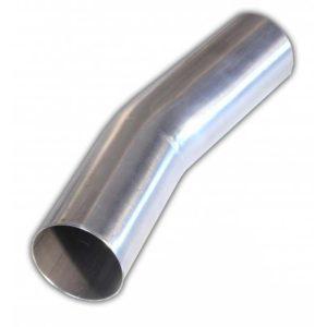 Edelstahl Auspuffbogen 15° mit 45mm Durchmesser