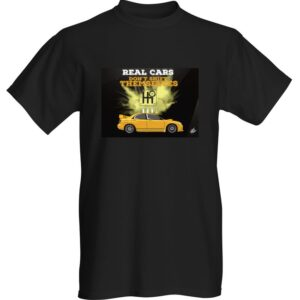 """WestSchweizCustoms Funny """"Real Cars"""" T-Shirt"""
