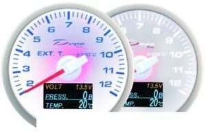 Car Clock Dashboard 60mm – 4in1 Exhaust Temp, Volt, Oil Pressure, Temp