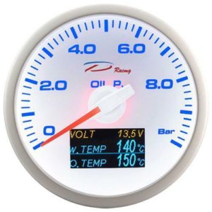 DEPO RACING 4in1 ÖLDRUCK/ÖL&WASSERTEMP/BATERIE ANZEIGE / OIL PRESSURE GAUGE 60mm