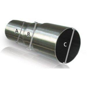 Stufenrohrverbinder Edelstahl Reduzierung 50mm / 55mm / 60mm
