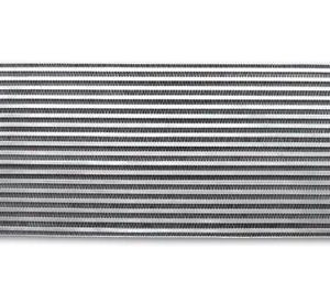 VIBRANT AIR TO AIR INTERCOOLER WITH END TANKS 18IN WX6.5IN HX3.25IN THICK 2.5IN IN/OUT – UNIVERSAL