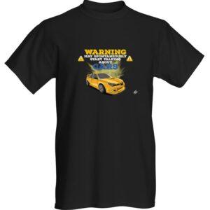"WestSchweizCustoms Funny ""WARNING!"" T-Shirt"